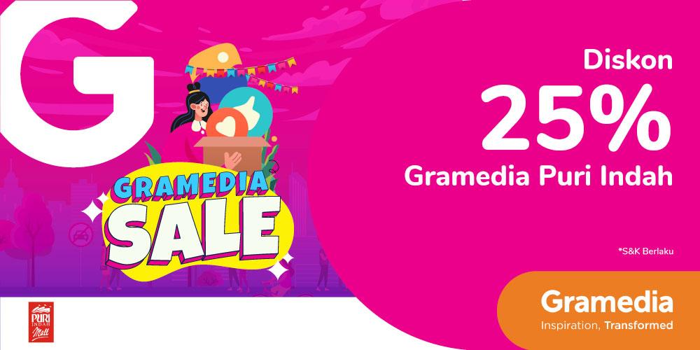 Gambar promo GRAMEDIA SALE – Diskon 25% di Gramedia Puri Indah dari Gramedia